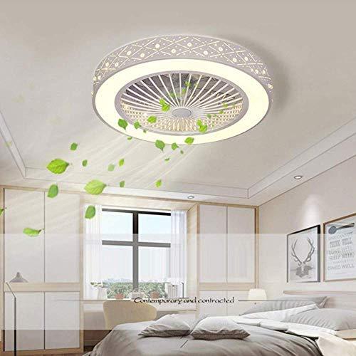 Moderner Deckenventilator mit Beleuchtungsfernbedienung Extrem leiser, energiesparender Deckenleuchte LED verstellbarer Deckenventilator Lautlos für Kinderzimmer Schlafzimmer Wohnzimmer