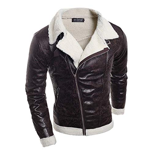 Why Should You Buy Milamy Men's Leather Coat Winter Warm Fur Liner Lapel Outwear Slim Fit Zipper Jac...