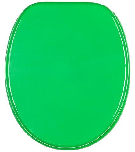 Abattant WC - Finition de haute qualité - Charnières robustes - Fixation facile - Vert
