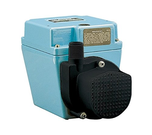 Little Giant 504203, 4E-34NR 1/12 hp 670 gph Small Submersible Pump, 115V - 60Hz