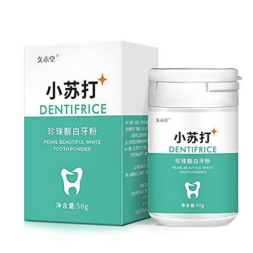 Polvo de limpieza de dientes para eliminar manchas de humo café té aliento fresco mal aliento higiene oral cuidado dental