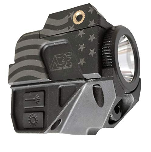ADE LS007G-1 Rechargeable Pistol Handgun Laser Flashlight Combo for Glock Series, Sig Sauer, Smith & Wesson, Springfield, Beretta, Ruger, and Heckler & Koch