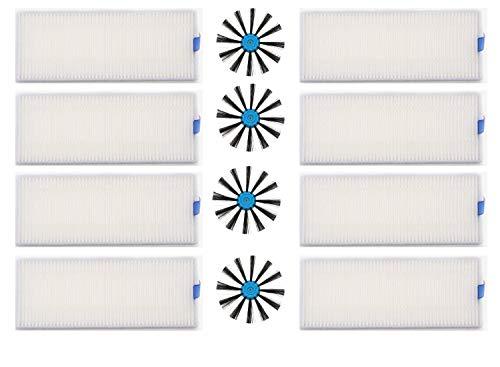 LongRong 8 HEPA filtrer 4 Brosse latérale pour bissell EV675