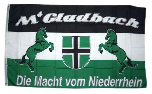 Fahne Flagge Die Macht vom Niederrhein Gladbach 90 x 150 cm