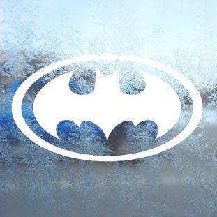 Batman white window decal sticker stickers muraux en vinyle pour ordinateur portable blanc
