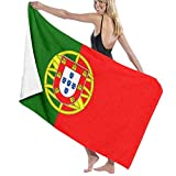 Yuanmeiju Unisex Portugal Flag Bath Towel Adult Soft Microfiber Printed Toalla de Playas Travel Towel 32x52 Inches
