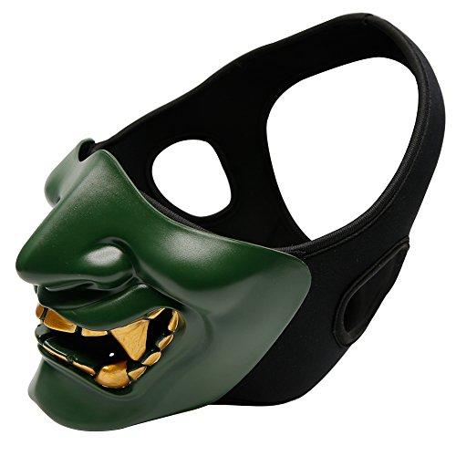 Gocher Halbgesichtsschutz Maske Devil Smile Mask Party Guardian Prajna Maske für Halloween, Cosplay, Kostümparty und Movie Prop-OD