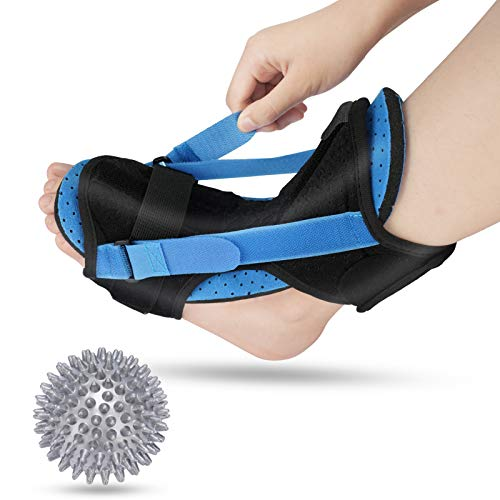 Plantar Fascitis Night Splint, Xdtlty Adjustable Ankle Brace Foot Drop Orthotic Brace for Plantar Fasciitis, Arch Foot Pain, Achilles Tendonitis Support for Men and Women