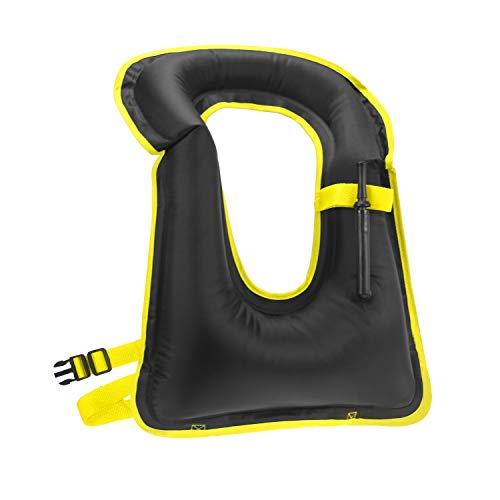 Rrtizan Snorkel Vest, Adults Portable Inflatable Swim Vest Buoyancy Aid Swim Jackets for Men & Women(Black)