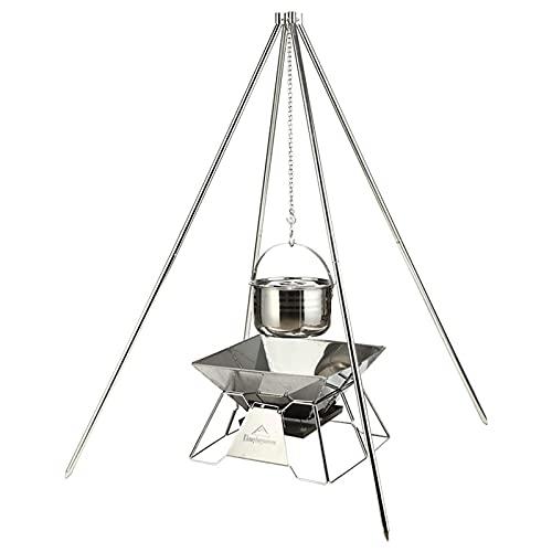 41 Q4eq1QaS. SL500  - TRITTHOCKER Camping-Stativ, BBQ-Camping-Quadripod Großer Edelstahl Selbstfahrender Grill Outdoor Grill Grillzubehör