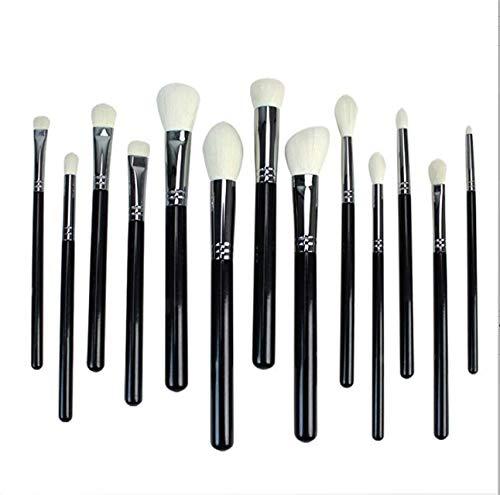 PPMSHUAY Pinceau De Maquillage 13Pcs Noir/Argent Pinceaux De Maquillage Set Blush Contour Concealer Professionnel Make Up Brush Tools Kit