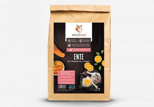 Wildfang Crocchette per Cani 6 kg I Cibo per Cani Senza Cereali con Anatra, Patate Dolci e Arancia I Alimento Secco per Cani Adulti I Alimento Secco per Cani Senza additivi Artificiali