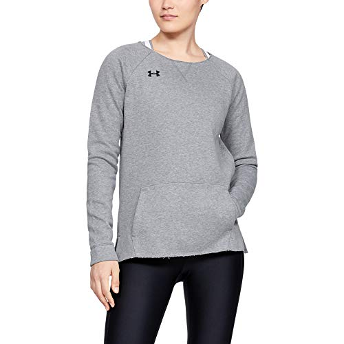 Under Armour Women's Hustle Fleece Crew Neck T-Shirt Short Sleeve