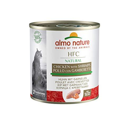 Almo Nature Classic Katzenfutter mit Huhn und Garnelen, 12er Pack (12 x 280 g)