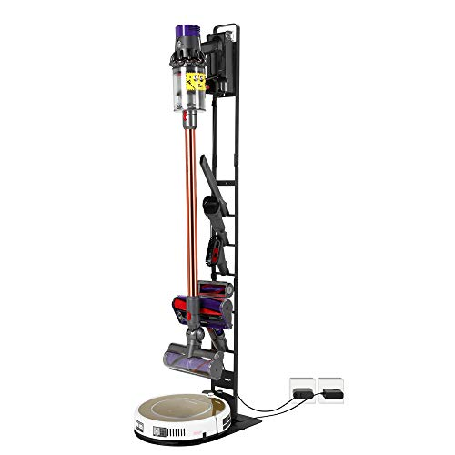 Buwico Stable Cleaner and Sweeper Holder Stand Docking Station Organizer for Dyson Handheld V11 V10 V8 V7 V6 DC30 DC31 DC34 DC35 DC58 DC59 DC62 DC74 Cordless Vacuum Cleaners/Sweeper (Black)