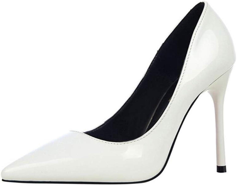 IINFINE Women's Slip-on Pumps High Heels Pointy Toe Sexy Elegant Stiletto Heels