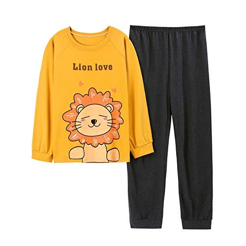 LEYUANA Pijamas de Mujer para el Invierno, Ropa de Dormir de algodón para Mujer, Pantalones, Ropa de casa para Mujer, Pijama Largo Suelto XL 002