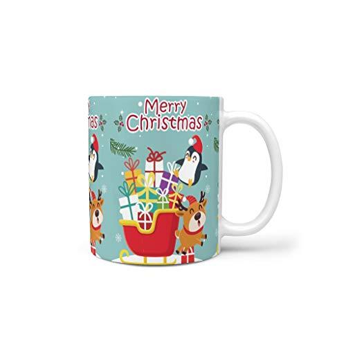 Generic Branded Tazas de café de cerámica lisa personalizada, moderna – Taza de agua apta para oficina para regalo de cumpleaños, color blanco, 330 ml