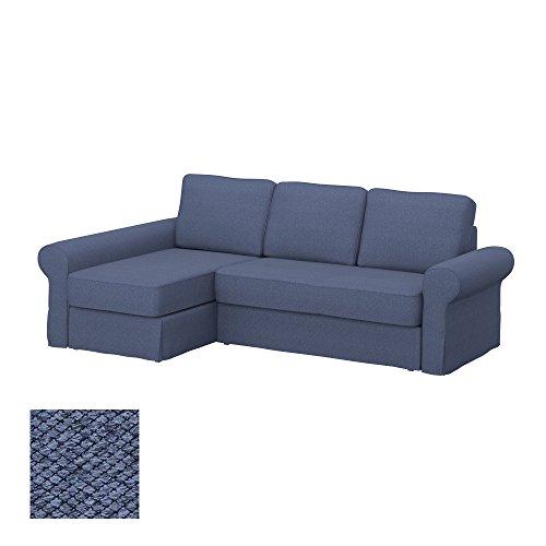 Soferia - IKEA BACKABRO Funda para sofá con chaiselongue, Nordic Denim