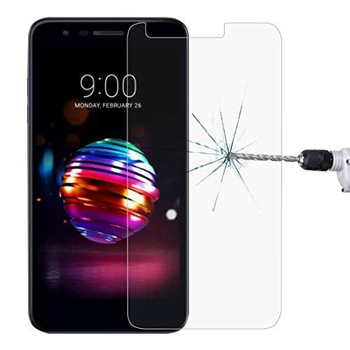 Dongdexiu Protectores de Pantalla de telefonía sólida 0.26mm 9H 2.5D Película Protectora de Cristal Templado for LG K10 (2018)