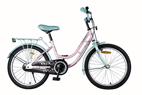 Vaux Bicycle for Kids- Vaux Pearl Lady 20T Kids Bicycle for Girls. Ideal for Cyclist with Height (3'11 – 4'3) – Green/Pink.