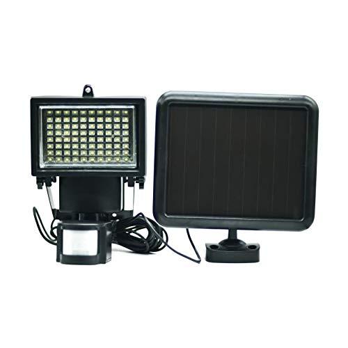 Galix 8017 Spot Solaire Très Eclairant avec Détecteur de Présence, Plastique, Noir