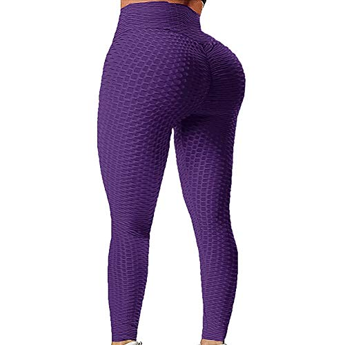 Chriamille Scrunch Butt Yoga Pants High Waisted Textured Butt Lift Leggings for Women Booty Lifting Tights