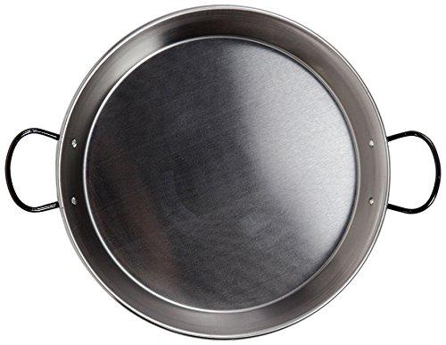La Valenciana Paellapfanne mit Keramikgriffen, Stahl, emailliert, 30cm, auch für Induktionsherd geeignet, Schwarz