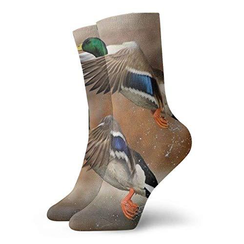 Generic Flying Mallard Ducks Mens gedruckt lustige Neuheit lässig Crew Dress Socken für Womens/Unisex 19,7 Zoll