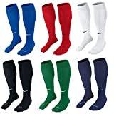 Nike Classic II Cushion Over-The-Calf Soccer Football Sock (Black/White, M)