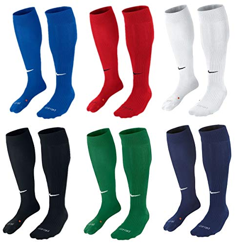 Nike Classic II Cushion Over-The-Calf Soccer Football Sock (Black/White, L)