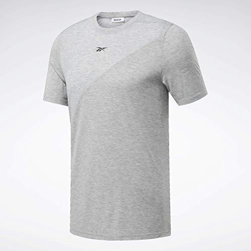Reebok Herren Workout Ready Supremium Kurzarm-T-Shirt, Herren, kurzärmelig, Workout Ready Supremium Short Sleeve Tee, Mittelgrau, X-Small