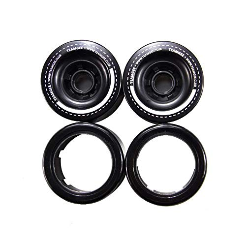 Teamgee Color Replaceable H5/H6/H9/H20 90MM Wheels Skateboard (4-Piece)(Black)