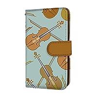 anve Galaxy S8+ SC-03J / SCV35 国内生産 ミラー スマホケース 手帳型 SAMSUNG サムスン ギャラクシー エスエイト プラス 【B.ブルー】 バイオリン 楽器 best_vd-0068_sp