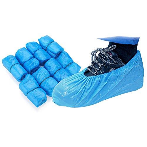 100 Piezas Cubiertas De Zapatos Desechables/Cubrezapatos Antideslizantes/Cubiertas de Zapatos Impermeables Desechables Cubrezapatos Engrosada a Prueba de Polvo (15cm*37cm)