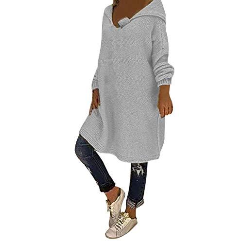 Feytuo Pullunder Damen,Pullover Damen Strickjacke Sweatjacke Lederjacke Mädchen Weihnachts Pullover Mädchen Sweater Winter Oversized Zip Weiße Schwarzer Sweatshirt Jacke Sweatshirt