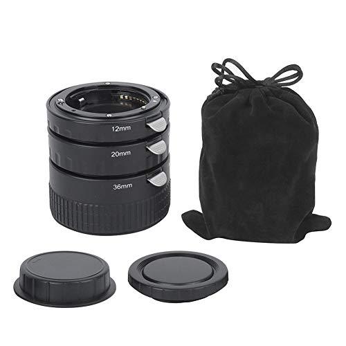 T opiky Anillo Adaptador de Primer Plano de 12 mm + 20 mm + 36 mm, convertidor Macro de Metal Primer Plano Enfoque automático para Nikon D7000 D3100 D800 Cámara SLR para Lente SLR de 35 mm