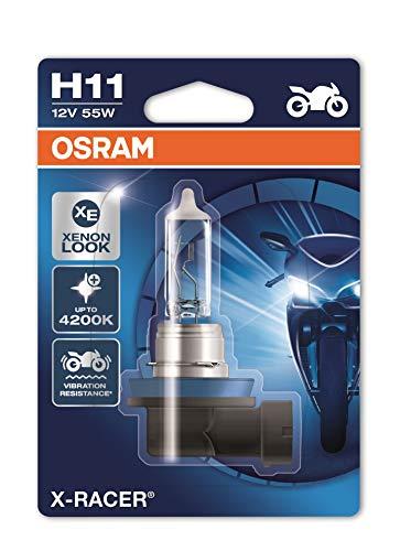 Osram 64211XR-01B X-RACER H11 Halogen Motorrad-Scheinwerferlampe, Einzelblister (1 Stück)
