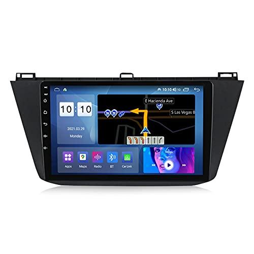 ADMLZQQ Android 10 Radio Coche para VW Tiguan 2017-2019 Autoradio Navegación GPS Soporta Control del Volante FM Manos Libres Bluetooth cámara de visión Trasera,M600s