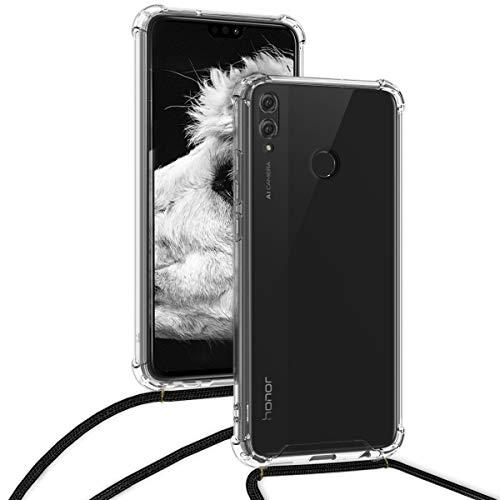 kwmobile Huawei Honor 8X Hülle - mit Kordel zum Umhängen - Silikon Handy Schutzhülle für Huawei Honor 8X - Transparent - 4