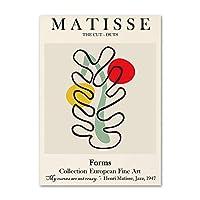抽象マティスサンリーフプラントキャンバスウォールアートパネルヴィンテージマティスラインポスター北欧スタイル壁絵画インテリアリビング部屋家装飾マティス写真50x70cmx1いいえフレーム