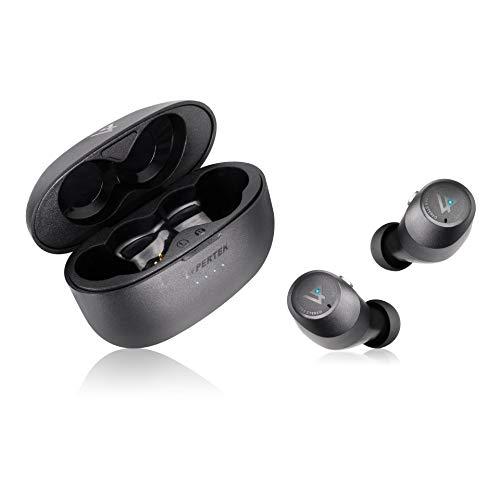 Lypertek SoundFree S20 True - Auriculares intraurales inalámbricos con QuickConnect, carga inalámbrica, sonido ambiental, resistente al agua, 8+40 horas de reproducción, color negro