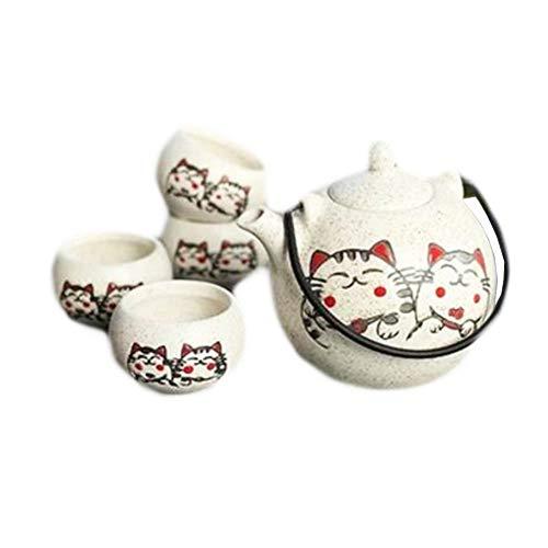 Black Temptation Juego de té de Porcelana de Estilo japonés Servicio de té Restaurante Especial Decor-A04