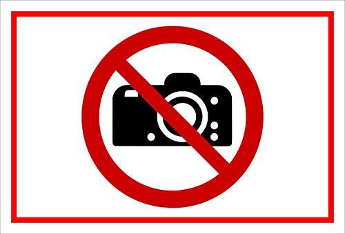 Melis Folienwerkstatt Adhesivo Señal De Prohibido–Fotografía. Cámara photographieren–entspr. DIN ISO 7010/ASR a1.3–s00355–032de B + + + en 20Variantes.
