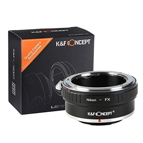 K&F Adaptateur de Monture d'objectif pour Nikon AI/F vers Fuji X Series Adaptateur de Monture d'objectif sans Miroir pour Appareil Photo Fuji XT2 XT20 XE3 XT1 X-T2