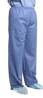 MediChoice Scrub Pants, Elastic Waist, SMS, Large, Blue (Case of 48)
