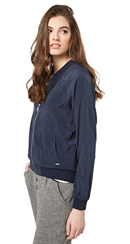 TOM TAILOR Denim Damen Bomber Jacket_35332580971 Jacke, Blau (Real Navy Blue 6593), 42 (Herstellergröße: XL)