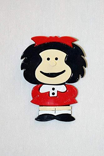 Broche Mafalda .Artesanía. Regalo original