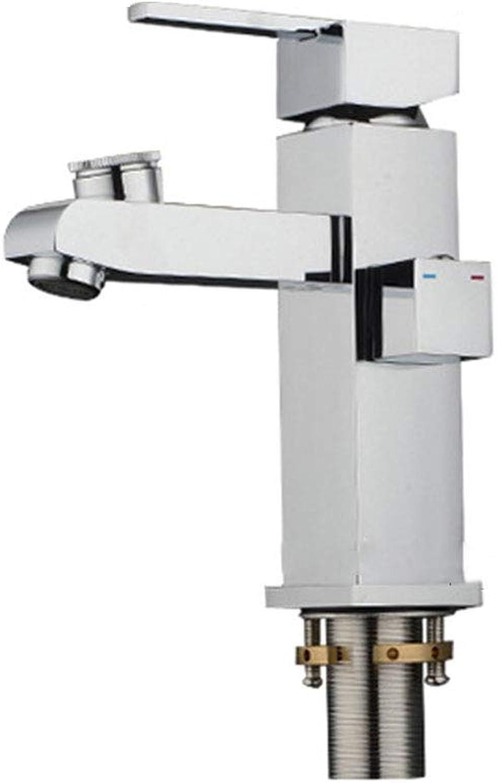 MFHSB Modernes, einzigartiges Lavatory Basin Sink Faucet, Multifunktionselement All Copper Bad Sink Faucet, für Lavatory Bathroom Vanity Sink Faucet poliert Smooth Body Water-Saving einfach zu sauber