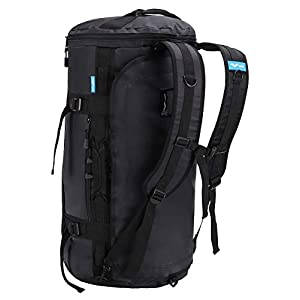 MIER Large Duffel Backpack Sports Gym Bag with Shoe Compartment, Heavy Duty and Water Resistant, Black, 90L